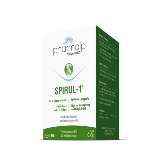 PHARMALP Switzerland SPIRUL 1 90 comprimes spiruline anemie fer fatigue complement vegan 02