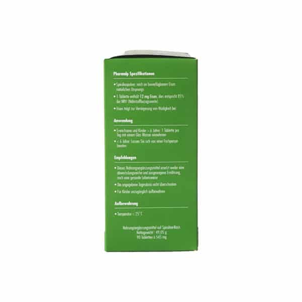 PHARMALP Switzerland SPIRUL 1 90 comprimes spiruline anemie fer fatigue complement vegan 04